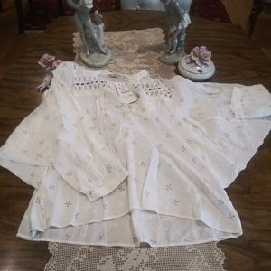 Zara printed floral button down collar blouse top